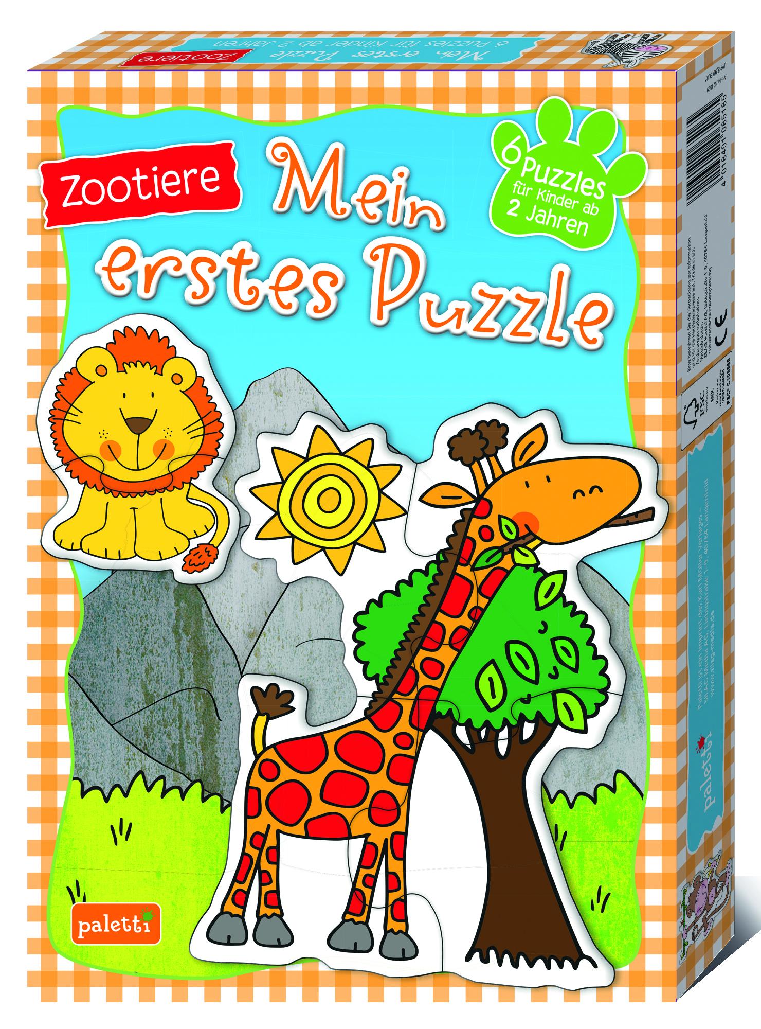 Mein Erstes Puzzle Zootiere
